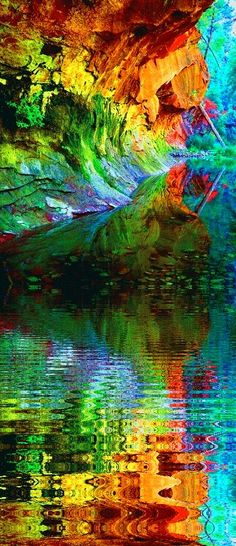 Over the rainbow World Of Color, Color Of Life, Rainbow Colors, Vibrant Colors, Psy Art, Over The Rainbow, Fractal Art, Amazing Art, Art Photography