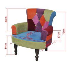 Stuhlsessel Sessel Stuhl Retrostil Patchwork bunt Armlehnenstuhl: Amazon.de: Küche & Haushalt