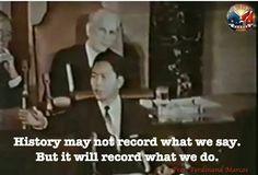 The Real Philippine President HE Ferdinand Emmanuel Edralin Marcos
