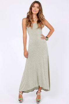 Sing A-long Grey Maxi Dress at LuLus.com!