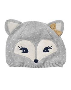 Fox Sweater Hat Fox Sweater Hat Toddler Girls Heather Grey Fox Sweater Hat by Gymboree. Funny Baby Clothes, Baby Kids Clothes, Baby Boy Knitting Patterns, Baby Knitting, Baby Boy Fashion, Kids Fashion, Fox Sweater, Toddler Sweater, Toddler Girl Shoes