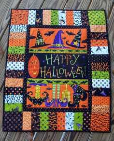 Happy Halloween Wall Hanging or Table Mat. $40.00, via Etsy.
