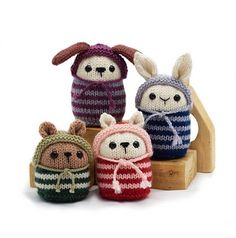 pookies.  bean bag knit toys.  knitting, yarn. Bet they would crochet up too!