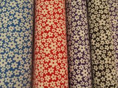 Floral Polycotton Fabric Dainty Flowers Mini  Pretty Flower Material 114cm Wide