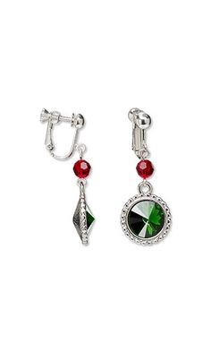 Jewelry Design - Earrings with Swarovski® Crystals and Almost Instant Jewely® and TierraCast® Drops - Fire Mountain Gems and Beads