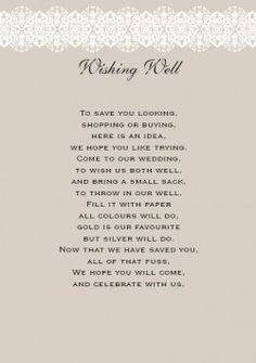 New Dawn Wishing Well & Gift Registry Card in Taupe  - DreamDay Invitations