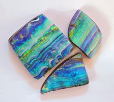 Some of the stripy boulder opals I cut this year! Bill Kasso