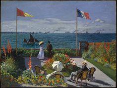 Claude Monet  Garden at Sainte-Adresse      1867      Oil on canvas