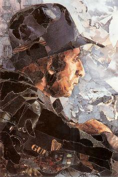 Bob Kilvert - collage self portrait