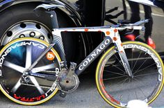 The KOM shouldn't have to do silly things like time trials, but if it's absolutely necessary, a rig like this would do.