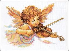 ANGEL PLAYING THE VIOLIN