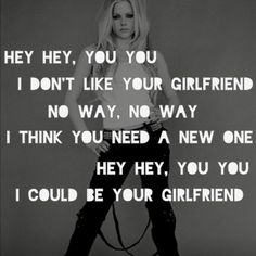 "-- #LyricArt for ""Girlfriend - Explicit Version"" by Avril Lavigne"