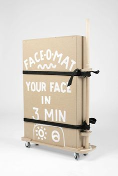 Face-o-mat is Tobias Gutmann's analog portrait booth. Tobias, Toy Chest, Concept, Creative, Illustration, Face, Workshop, Wheels, Kit