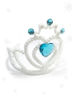 Frozen Snowy White Glitter Tiara Crown// Frozen  by DazzleLand