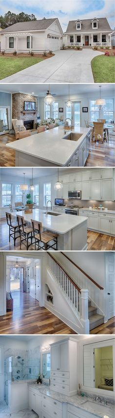 Lovely Lowcountry home located at Hampton Lake in Bluffton, SC. Lovely Lowcountry home located at Hampton Lake in Bluffton, SC. Style At Home, House Goals, Fixer Upper, My Dream Home, Dream Homes, Future House, Home Kitchens, Home Fashion, Beautiful Homes