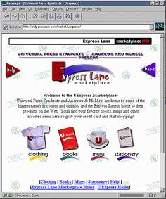 Universal Express, marketplaceMCI website (1995)