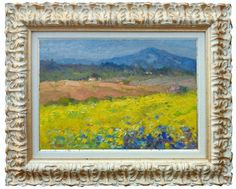 Italian painting flowers field spring air Tuscany di Modiarte