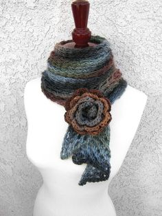 Bias Scarf free knit pattern