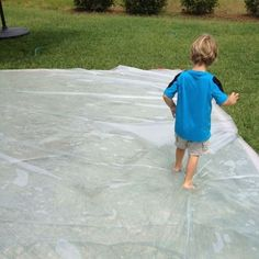 Re-visiting the outdoor waterbed created by PLAY AT HOME MOM
