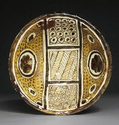 AN ABBASID POLYCHROME LUSTRE POTTERY BOWL PROBABLY MESOPOTAMIA, 9TH CENTURY