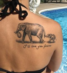 60 Best Elephant Tattoos Meanings Ideas and Designs: 60 Best Elephant Tattoos Meanings Ideas And Designs. 200 Matching Mother And Daughter Tattoo Ideas Baby Elephant Tattoo, Elephant Tattoo Meaning, Elephant Tattoo Design, Small Quote Tattoos, Small Tattoos With Meaning, Cute Small Tattoos, Mother Tattoos, Mother Daughter Tattoos, Tattoos For Daughters