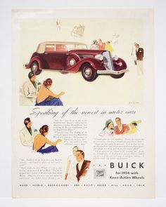vintage car ads - Buick