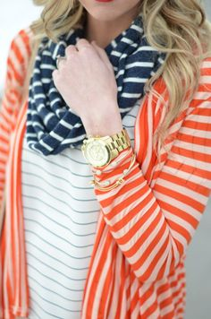 Multiple kinds of stripes . Today is a stripe on stripe kinda day.