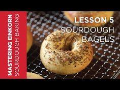 Sourdough Bagels, Sourdough Recipes, Flour Recipes, Einkorn Bread, Gluten Free Recipes Videos, Recipe Videos, Onion Bagel, Homemade Tortillas, Bun Recipe