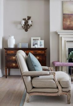 That chair though New Forest Manor House Interior Design | Sims Hilditch