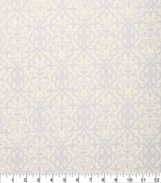 "Keepsake Calico? Cotton Fabric 43"" - Gray and Cream Lace"