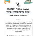 Common Core Problem Solving for First Grade: Mail Math Time!