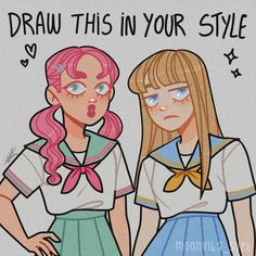Draw The Squad, Drawing Prompt, Drawing Challenge, Cute Art, Your Style, Disney Characters, Fictional Characters, Disney Princess, Portrait