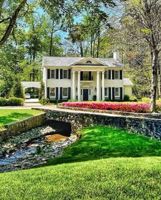 """Private Newport on Instagram: """"One of the most beautiful streets in Atlanta, enhanced by the brook that runs along the front lawns necessitating romantic bridges as part…"""""""