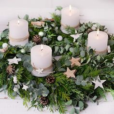 DIY instructions for beginners: tying an advent wreath (with eucalyptus) - DIY instructions for beginners: tying an advent wreath (with eucalyptus) - Christmas Advent Wreath, Winter Christmas, Christmas Time, Christmas Crafts, Christmas Decorations, Xmas Wreaths, Holiday Decorating, Decorating Ideas, Deco Table Noel