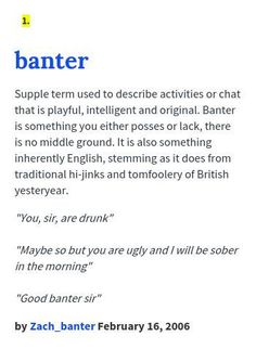 What is the meaning of banter