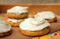 Pumpkin Cookies with Cinnamon Cream Cheese Frosting!-Made these tonight they are so yummy