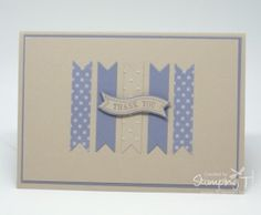 Stampin' Up! Stamping T! - Bitty Banners Card