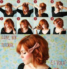 specchioedintorni.it fake bob tutorial http://specchioedintorni.it/tutorial/2012/08/08/tutorial-come-realizzare-un-finto-caschetto-o-fake-bob_1156