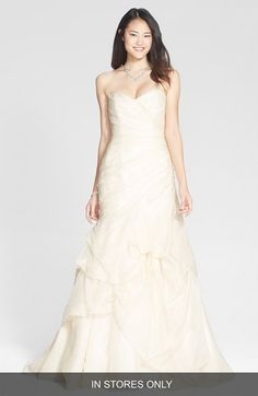 BLISS+Monique+Lhuillier+Draped+Silk+Organza+Trumpet+Dress+(In+Stores+Only)+available+at+#Nordstrom