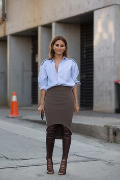 Christine Centenera  #StreetStyle From Australian Fashion Week