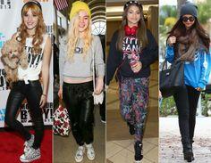 Street O look street não precisa ficar com cara de menino! Abuse de moletons divertidos como os de Zendaya e Selena Gomez, da tendência cropped, como o de Elle Fanning ou de t-shirts com nozinho, como fez Bella Thorne.