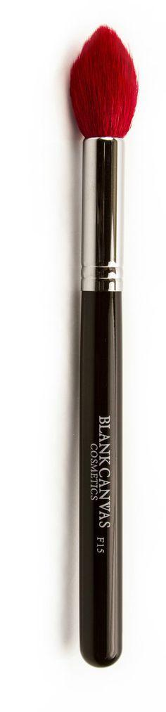 Blank Canvas Cosmetics Store - F15 Small Tapered (Red Bristles), $16.67 (http://www.blankcanvascosmetics.com/products/f15-small-tapered-red-bristles.html)