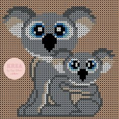 Koalaer i perler – Anja Takacs Sheep Tattoo, Wand Tattoo, Hama Beads Design, Peler Beads, Pearler Bead Patterns, Beaded Animals, Cross Stitch Flowers, Creative Kids, Diy And Crafts
