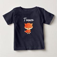 Little Fox Woodland Animals Baby Boy  Tee Shirt - animal gift ideas animals and pets diy customize