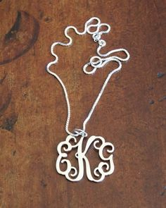 cbfbfb167a615 Filigree Monogram Pendant Necklace ~ Floating Monogram ~ Free Shipping