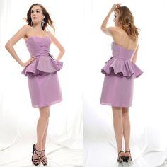 sweethear lavendar bridesmaid dresses | ... Purple V-neck Long Bridesmaid Dresses Maid of Honor Dresses Chiffon HL