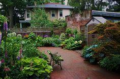 Brick courtyard