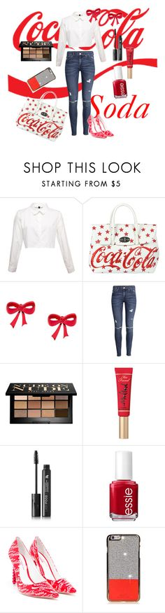 """Cola model"" by eliyanakubelis on Polyvore featuring Mia Bag, H&M, Bobbi Brown Cosmetics, Too Faced Cosmetics, LashFood, Essie and Sophia Webster"