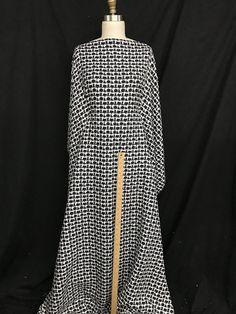 Haute Couture Cotton and Lurex Bouclé Haute Couture Paris, Fabrics, Sewing, Skirts, Cotton, Dresses, Tejidos, Vestidos, Couture