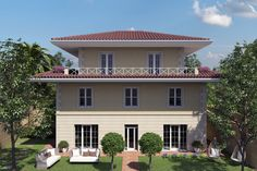 Progettazione villa singola Mansions, House Styles, Outdoor Decor, Home Decor, Mansion Houses, Homemade Home Decor, Manor Houses, Fancy Houses, Decoration Home